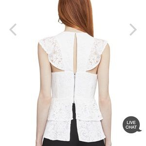 BCBGMaxAzria Tops - New with tags BCBG lace shirt.